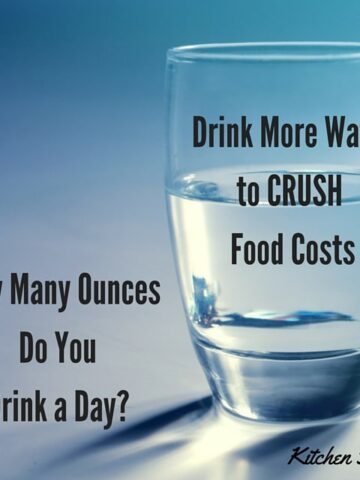 Drink More Waterto CRUSH Food Costs