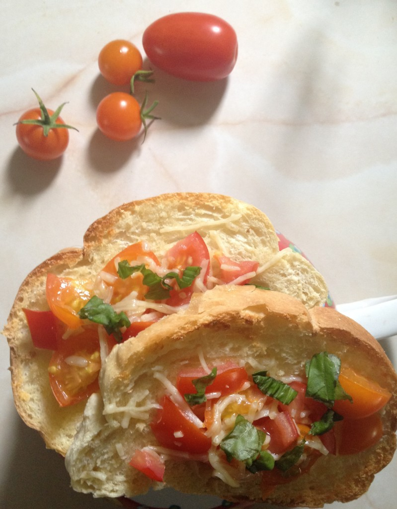 Simply the Best Bruschetta made with Sungold tomatoes I grew myself!