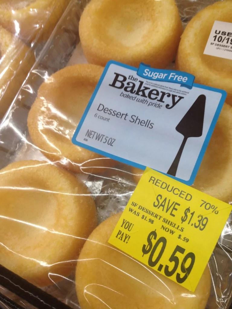 Reduced Price Dessert Shells