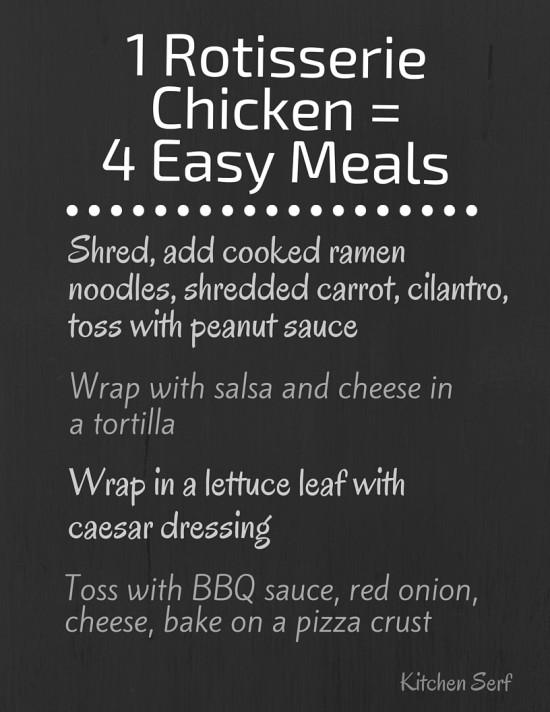 Rotisserie Chicken to the Rescue