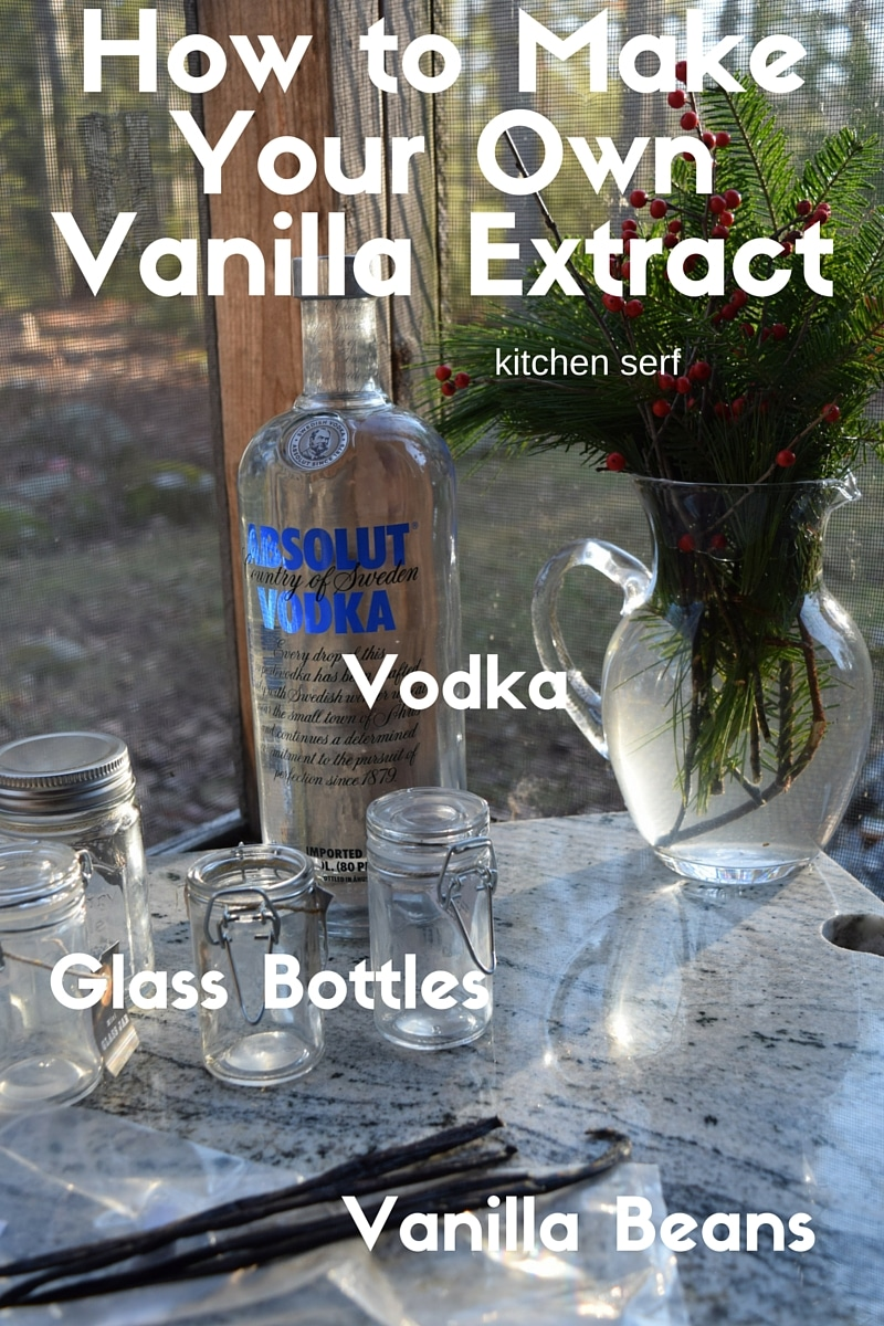 Make your own vanilla extract and impress your friends. All you need is a cup of vodka, three vanilla beans and a glass jar with a tight-fitting lid.