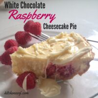 Valentine's Day Dessert White Chocolate Raspberry Cheesecake Recipe