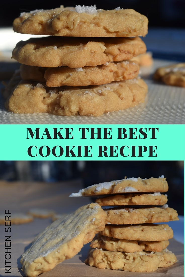 How to make the best cookie recipe ever. These are crispy, delicate, buttery and rich tasting cookies thanks to the inclusion of crisp rice cereal, shredded coconut and rolled oats. One bite and you'll be hooked.