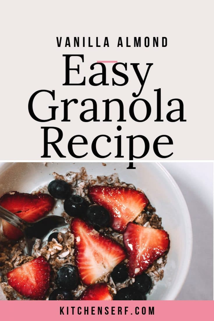 Easy Vanilla Almond Granola does double duty at our house for quick breakfasts and healthy snacks. If you haven't made your own granola yet, you must give it a try.