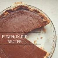 Pumpkin Pie Recipe, Only 2 cups Pumpkin Puree Needed