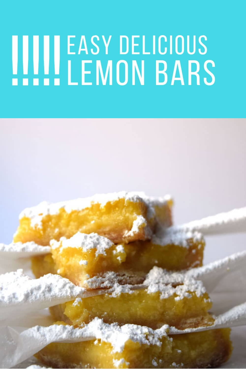 Lemon bars are so easy to make and you can do everything, crust and filling using just one kitchen appliance. Lemon bars are a must if you're having a tea party or shower. #lemon #dessert #easy