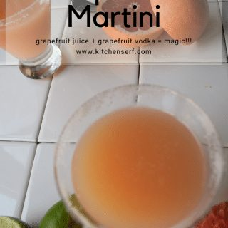 Grapefruit martinis are easy and delicious and with just 64 calories in a one-ounce serving of vodka, an easy drink to fit into your diet.