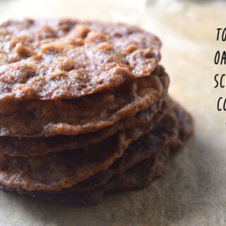 Toasted oatmeal Scotchie Cookies are buttery and satisfying because you toast the oatmeal in the oven before mixing into the cookie dough.