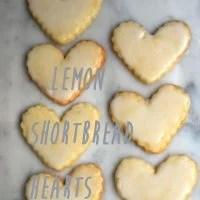 Lemon Shortbread Hearts Cookie Recipe