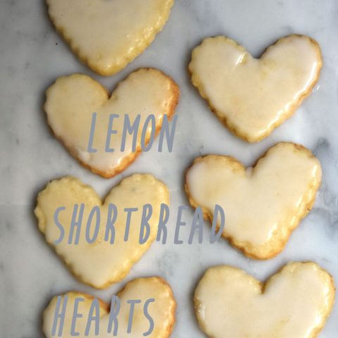 Lemon Shortbread Hearts Cookie Recipe