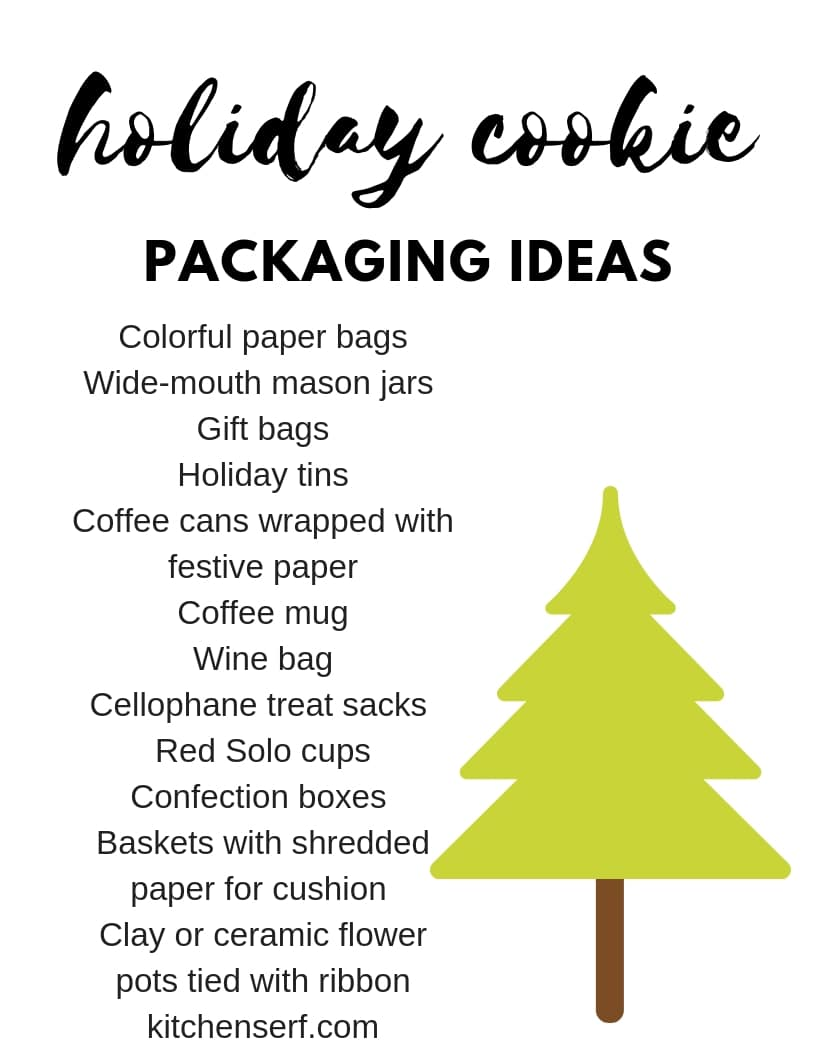 Holiday Cookie Packaging Ideas + Free Printable - Kitchen Serf