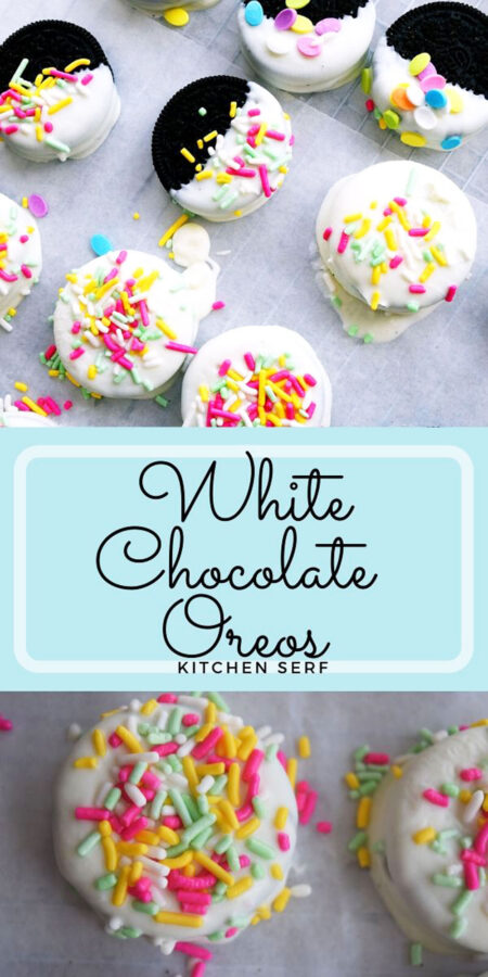 White Chocolate Oreo Cookies (two ingredient cookies)