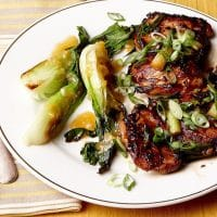 Spicy and Sweet Chicken Thighs with Seared Scallion - Recipe