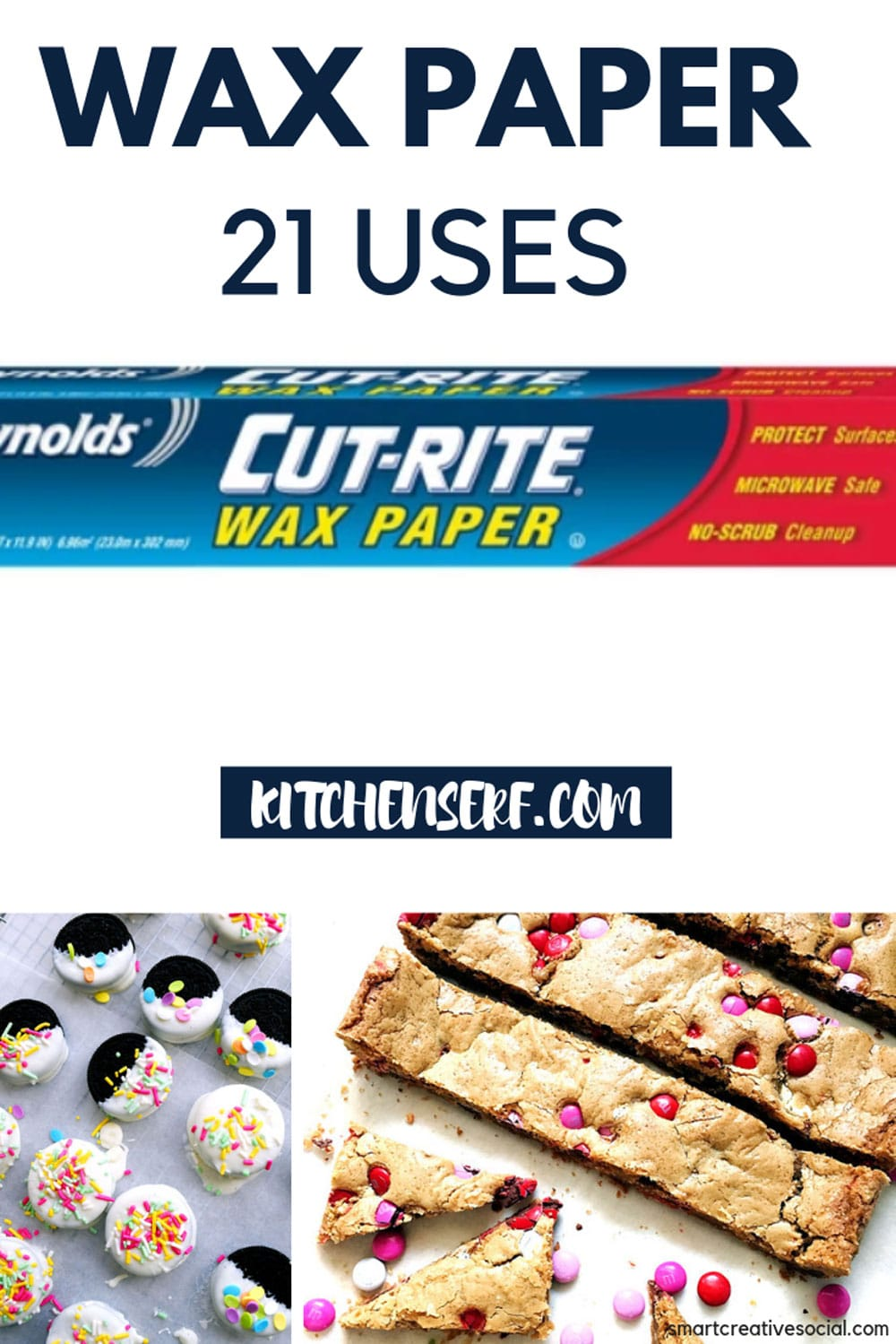 Wax paper is one of my kitchen workhorses. Click over to kitchenserf.com to see all the tasks that wax paper will make easier for you. #diy #clean #kitchen