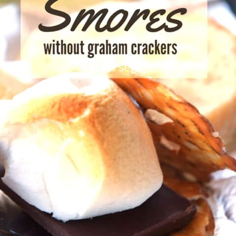I've got 11 ways for you to make s'mores when you've either run out of graham crackers or you don't like graham crackers. Check it out on kitchenserf.com #smores #diy #marshmallow #easydessert