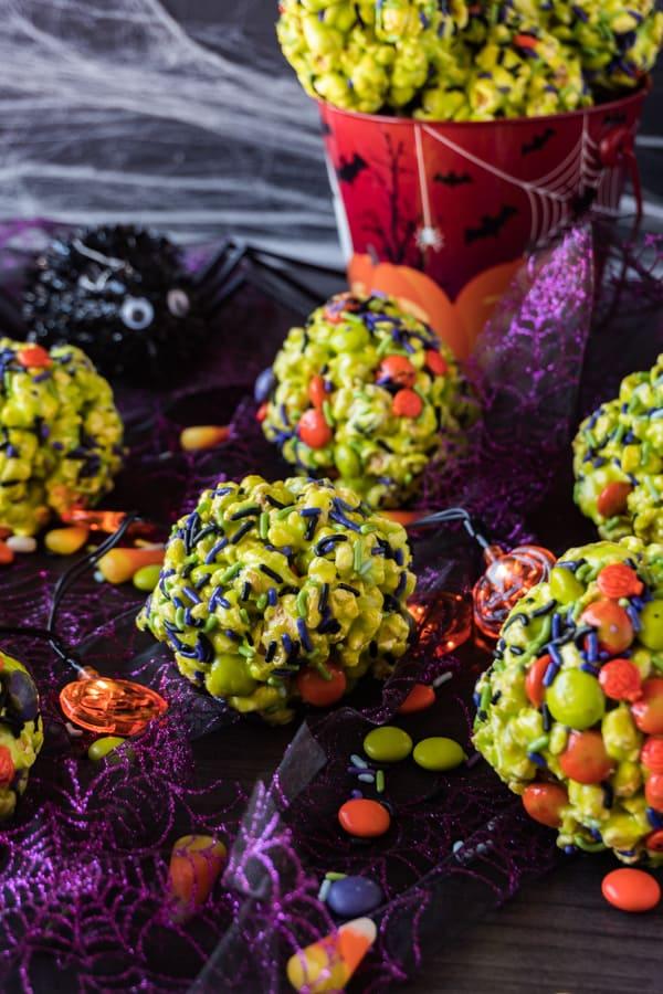 Halloween Popcorn Balls • A Table Full Of Joy