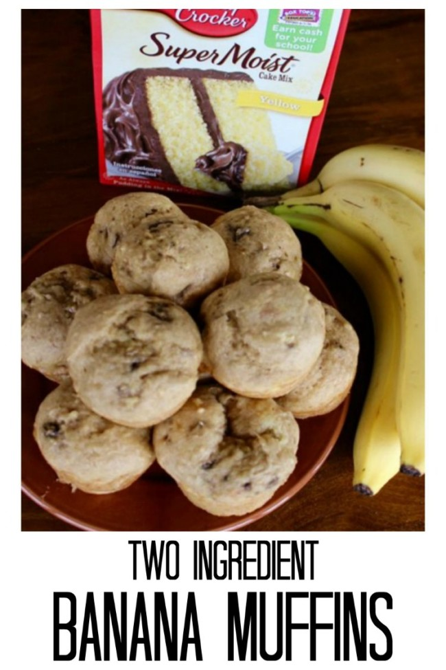 Easy Two Ingredient Banana Muffins!