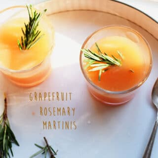 Grapefruit Rosemary Martinis