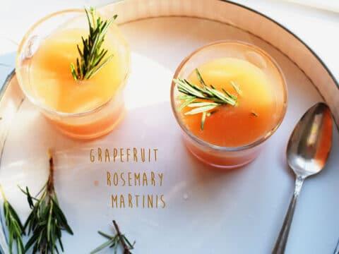 Grapefruit Rosemary Martinis
