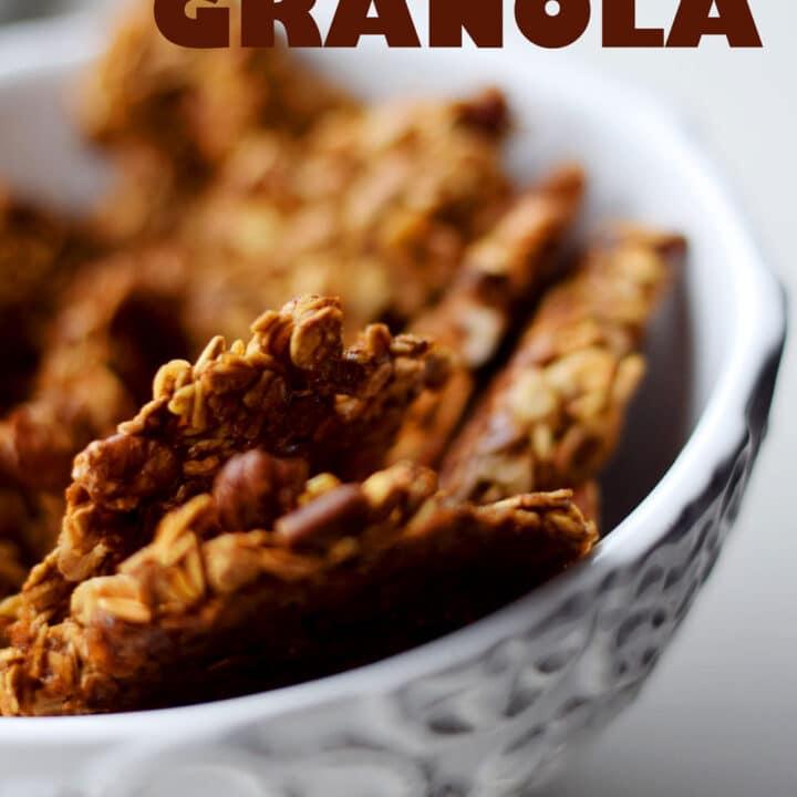 Clumpy Molasses Pecan Granola Recipe