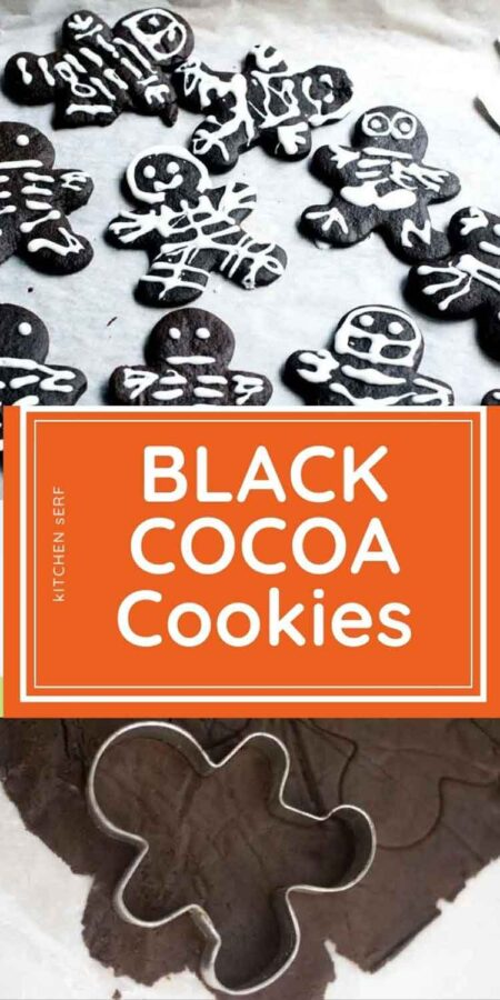 black cocoa gingerbread man cookies