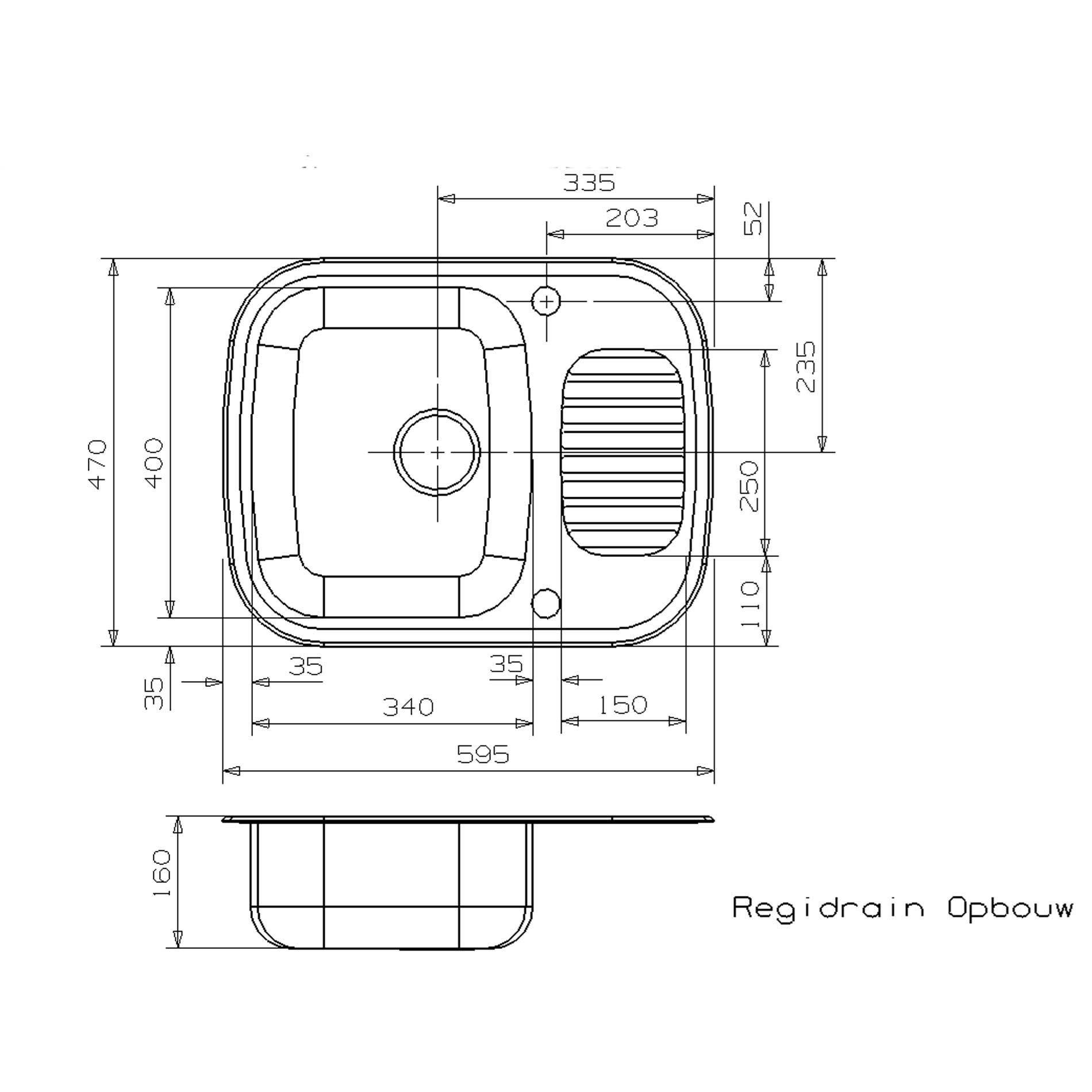 Reginox Regidrain Rl226s Stainless Steel Sink