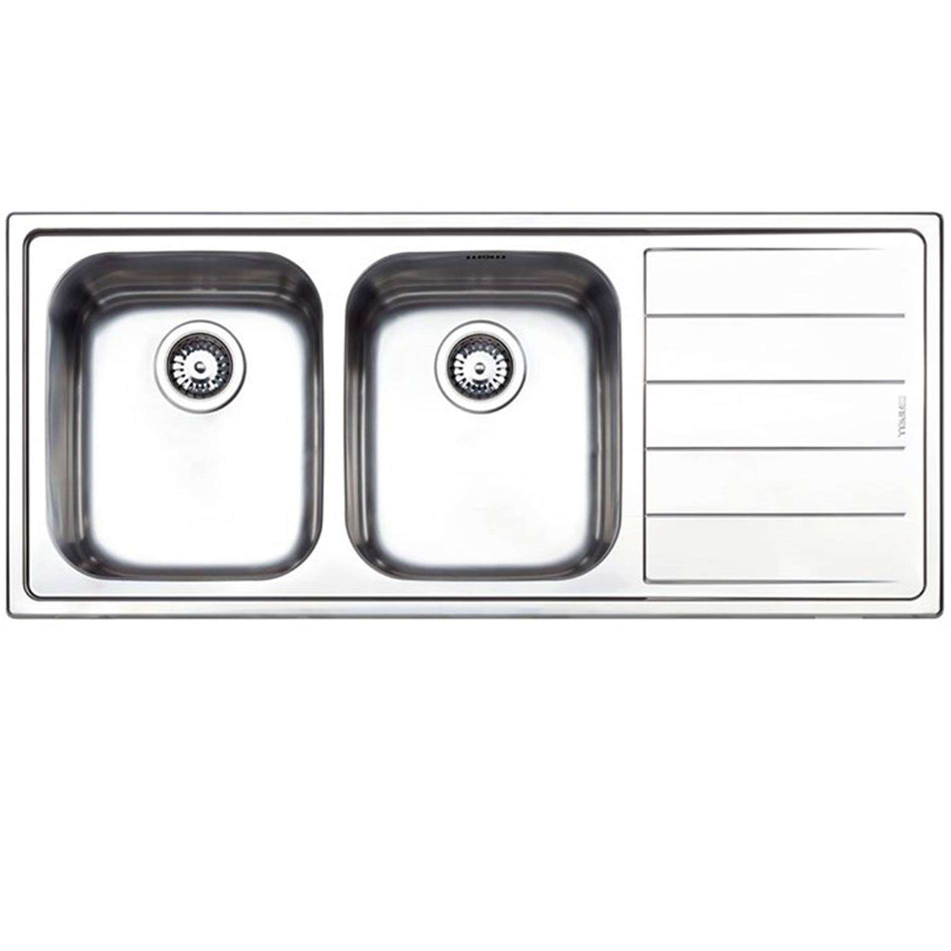 clearwater linear double bowl stainless steel sink