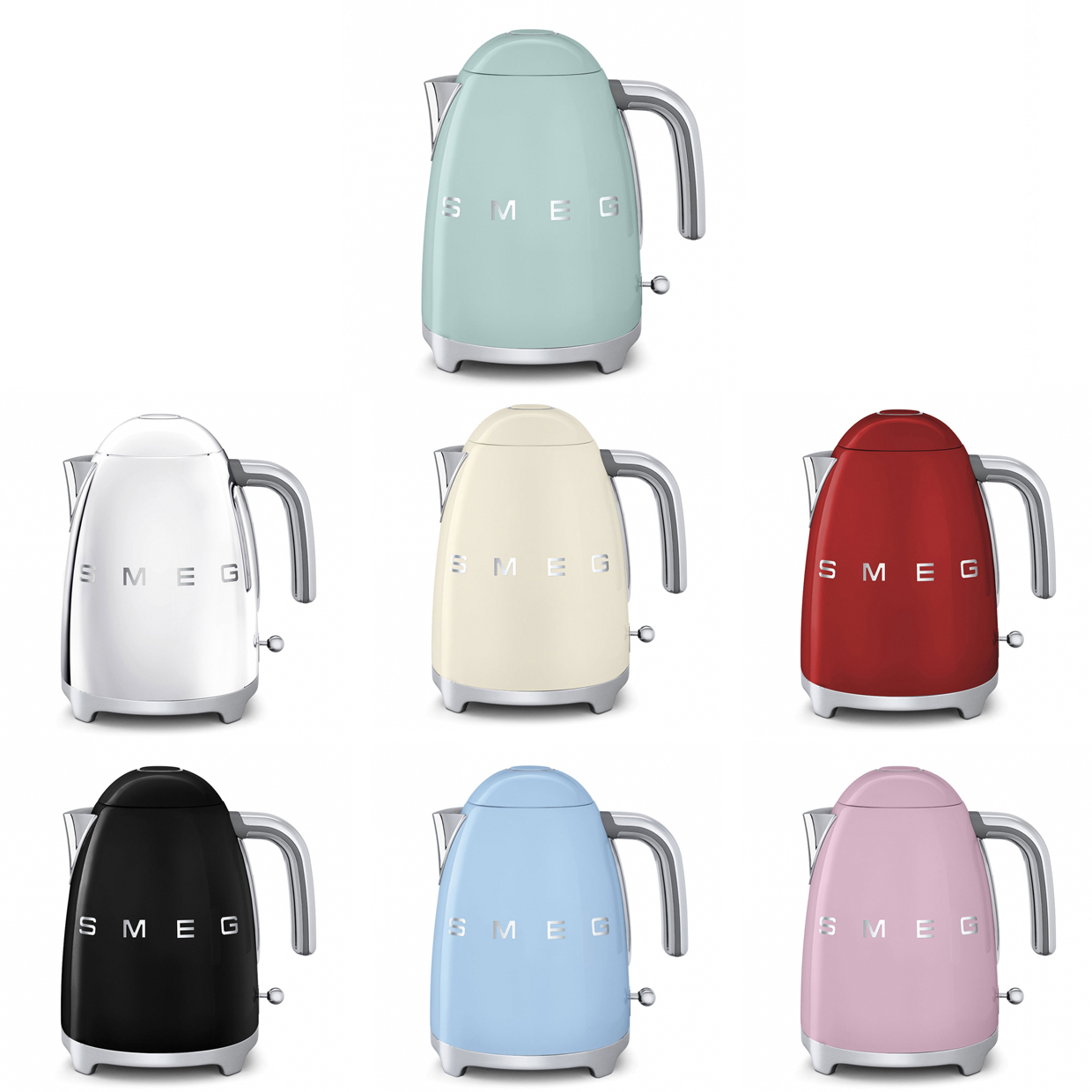 Smeg kettle in different colours