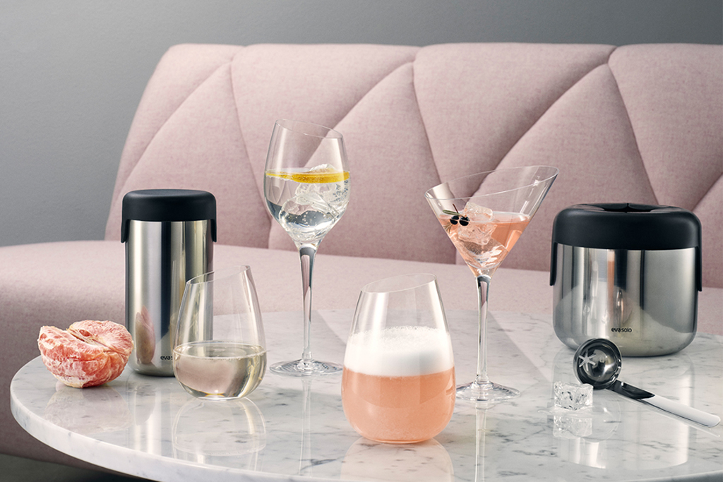 KitchenSpain Eva Solo Wine & Bar Ice Bucket, Shaker and Glassware