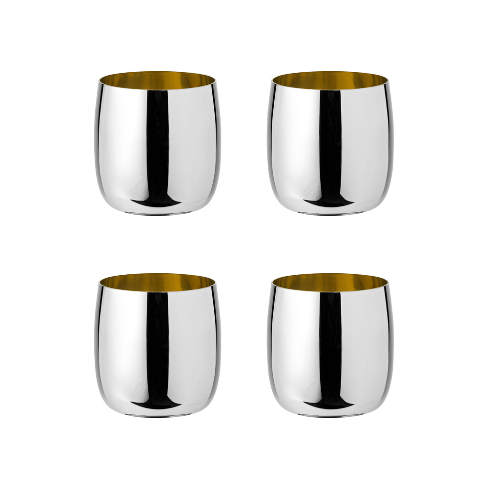 Stelton - Foster wine glass steel golden (4 pcs)