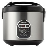 Aroma 20-Cup (Cooked)  (10-Cup UNCOOKED) Digital Rice Cooker and Food Steamer, Stainless Steel Exterior (ARC-150SB)