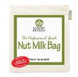 Sosoft Brands Nut Milk Bag - Big 12in X12in Professional Grade - Reusable Almond Milk Bag & All Purpose Strainer - Fine Mesh Nylon Cheesecloth & Cold Brew Coffee Filter - Free Recipes & Videos