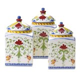 Certified International Amalfi 3-Piece Canister Set, 60-Ounce, 82-Ounce and 108-Ounce