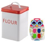 Large Red Kitchen Food Storage Flour Sugar Coffee Canister (Color5)