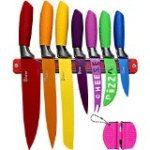 Kitchen Knife Set Plus Magnetic Strip and Sharpener