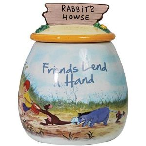 Westland-Giftware-Ceramic-Cookie-Jar-Disney-Friends-Lend-a-Hand