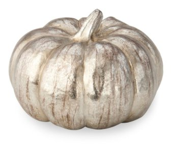 October Hill Metallic Silver Pumpkin of Mine Decoration