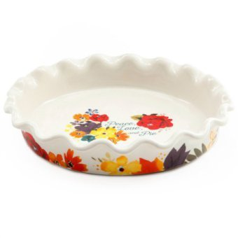 The Pioneer Woman 9-Inch Ruffle Top Ceramic Pie Pan Timeless Floral  sc 1 st  Kitchen Things & The Pioneer Woman 9-Inch Ruffle Top Ceramic Pie Pan - Kitchen Things