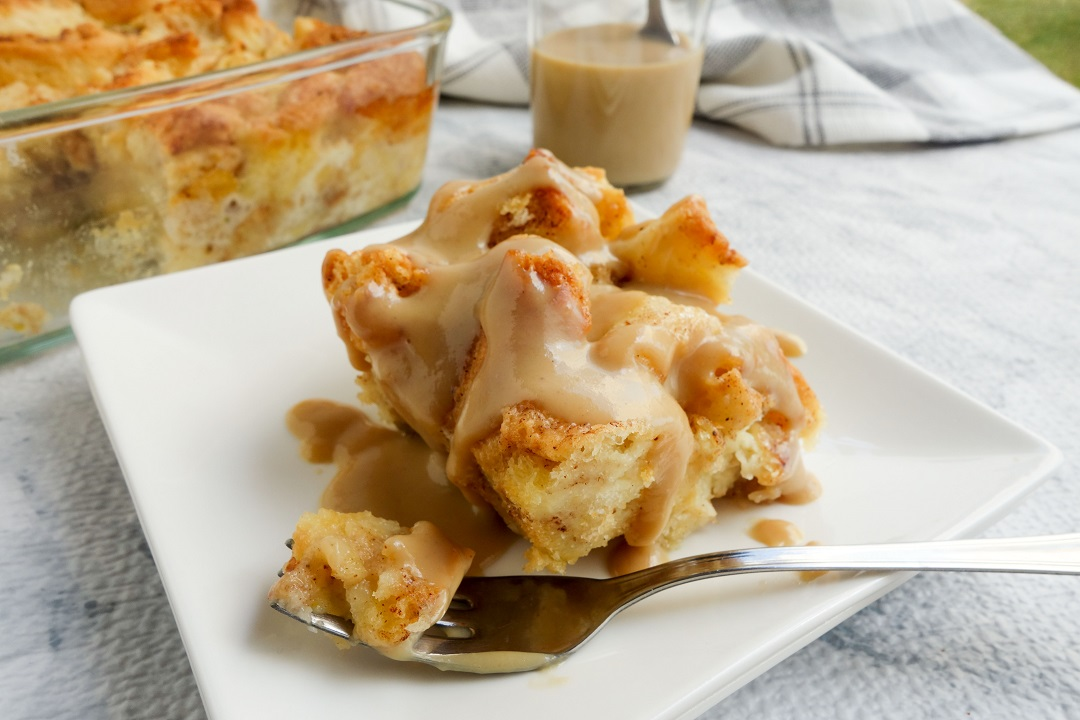 This traditional bread pudding drizzled with a quick vanilla sauce can be made overnight. They make a good breakfast, brunch or a dessert