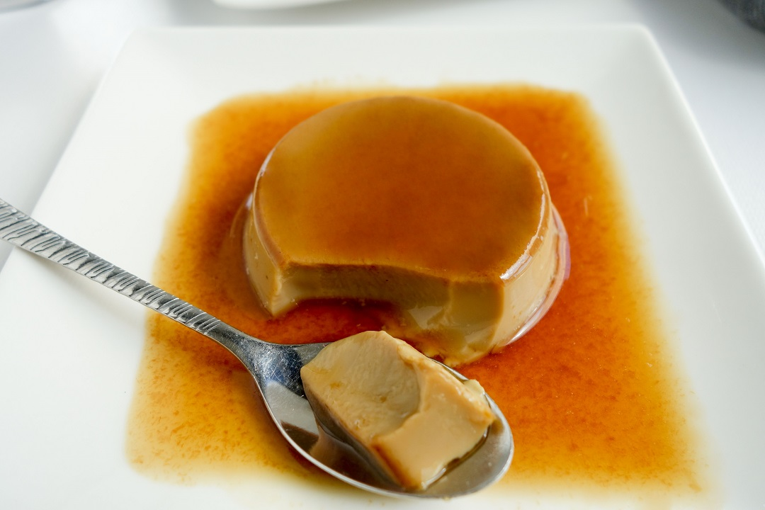 A classic caramel custard with coffee flavors makes a perfect dessert for dinner parties and special occasions.
