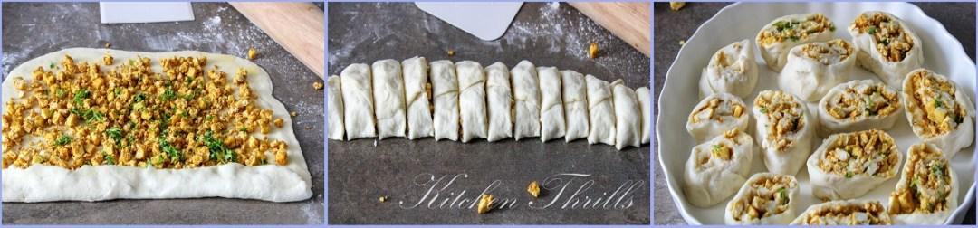 How to bake paneer rolls with no knead dough and paneer tikka filling from scratch. #cinnamondough #easybread #paneertikka
