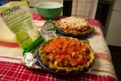 Italian Sausage Spinach pie