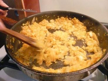 mirepoix - carrots, onions, cilantro
