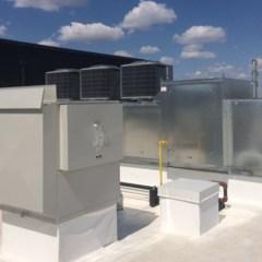 HVAC System on Quick Serve Restaurant Roof