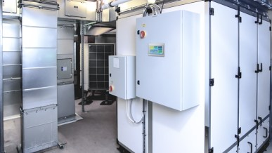 Image of a recirculating systems - Remote Tower in mechanical room