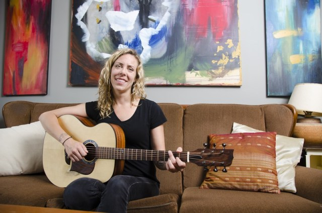 """I also love painting and would do more of it if I had more time,"" says singer-songwriter Amanda Rheaume from her home off Parkdale Avenue just before launching Keep a Fire. Photo by Ted Simpson"