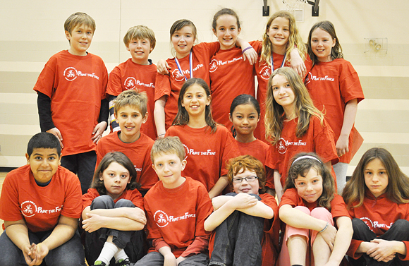 Grade 5 students at Hilson Avenue Public School helped organize the event and learned about a variety of jobs along the way.Back row: Rowan Bell Petrusic, Reilly Newman, Ella Hopkins-Bryan, Emily Jones, Sophie Jones, Grace O'Malley.<br />Middle row: Eric Karpovits, Maelyn Kaya, Heidy Thaw, Marie Babineau.