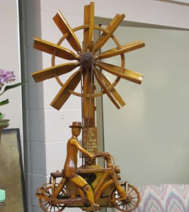 """Markey has had a lot of great finds over the years, but he says his """"top-of-the-list favourite"""" is this elaborately carved whirligig built by Arthur Sauvé (1896-1973) of Maxville, Ontario."""