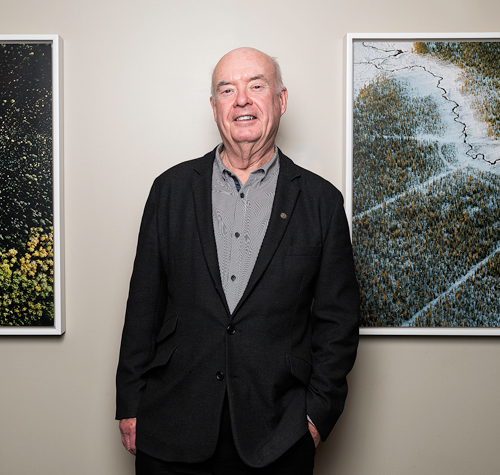 Together with his wife Barbara, Glen McInnes has bought, sold and donated hundreds of pieces of art, always with the goal of giving exposure to great work that might otherwise go unseen. Photo by Ted Simpson.