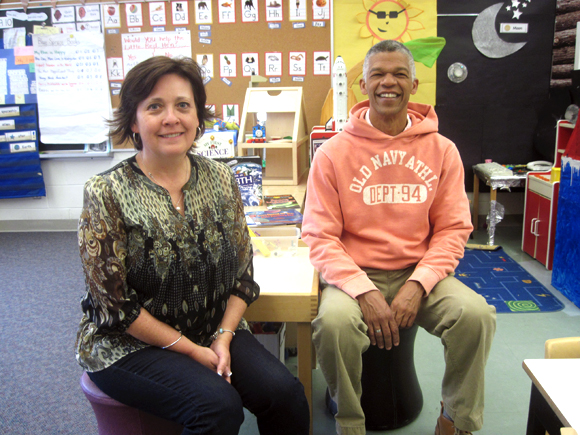 Marilyn Harvey and Christopher Makinde are Connaught's veteran faculty members. Students and staff will celebrate Connaught's centennial with special activities including an open house and the opening of a time capsule. Photo by Caroline O'Neill.